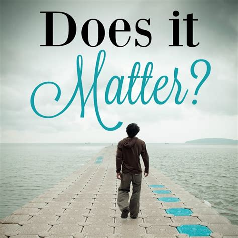 Does it matter who is used? - Dear Goldie