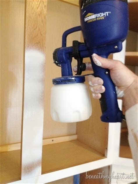 Best Hvlp Sprayer For Kitchen Cabinets by Painting Kitchen Cabinets White Beneath My