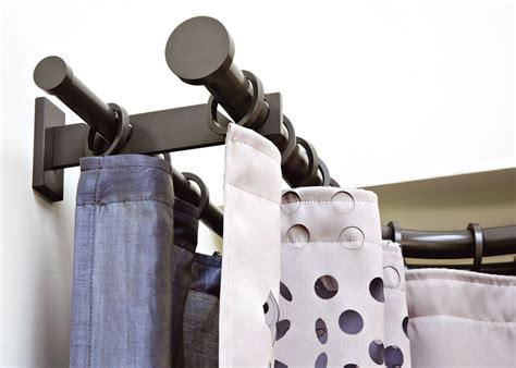 double drapery rod winona adjustable double curtain rod