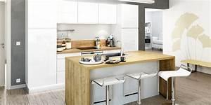 Ophreycom modele cuisine equipee avec ilot central for Idee deco cuisine avec modele cuisine equipée