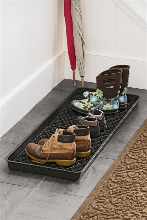 Large Boot Tray Set   Recycled Plastic Tray   Grid