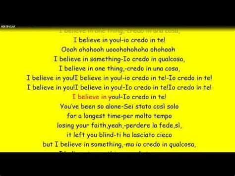 if you believe testo bob sinclar i believe con testo e traduzione