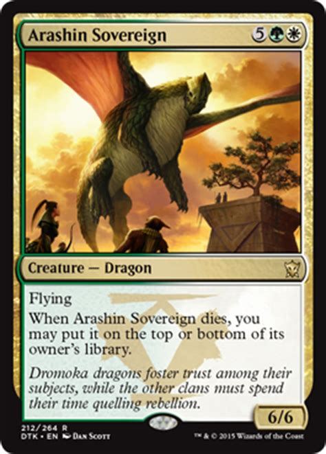 Standard Deck Mtg Dragons Of Tarkir by Arashin Sovereign From Dragons Of Tarkir Spoiler