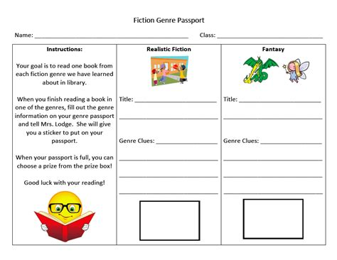 elementary library quot passport quot to reading activity this