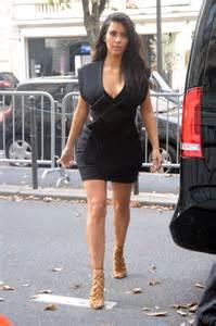 kim kardashian  black mini dress  gotceleb