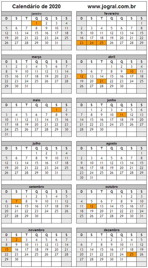 calendario ano imprimir em formato