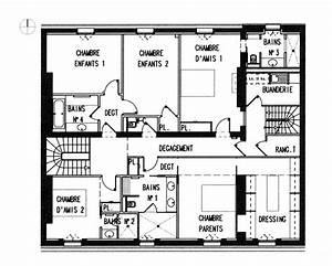 plan maison contemporaine architecte With plan de maison architecte