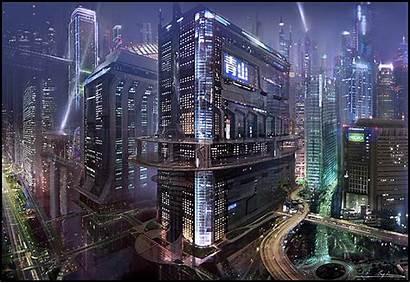 Futuristic Cyberpunk Concept Sci Fi Future Cities