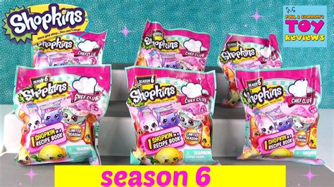 new shopkins season 6 chef club recipe book blind bags opening pstoyreviews