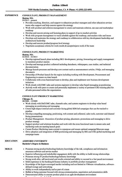 consultant product resume sles velvet