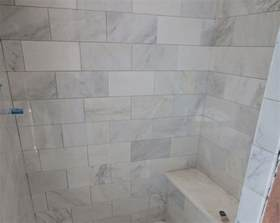 installing ceramic tile backsplash in kitchen marble carrara tile bathroom part 3 up look