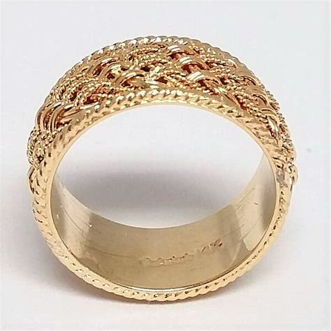 mens yellow gold braided rope trim wedding band marquis jewelers newton ma