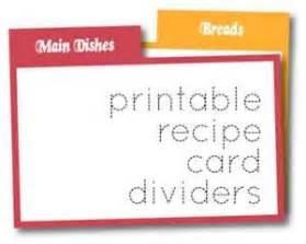printable recipe card dividers bing images