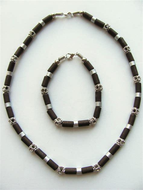 daytona beach  tone dark brown surfer beaded necklace