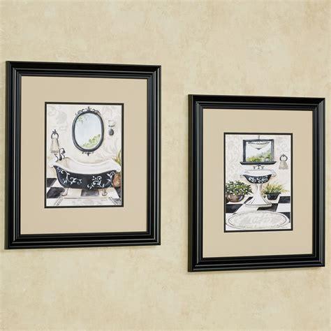 bath framed wall set