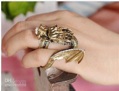 vintage dragon gold ring halloween mens rings