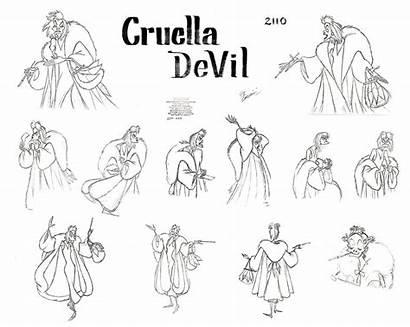 Cruella Vil Character 101 Sheet Kidagakash Nedakh
