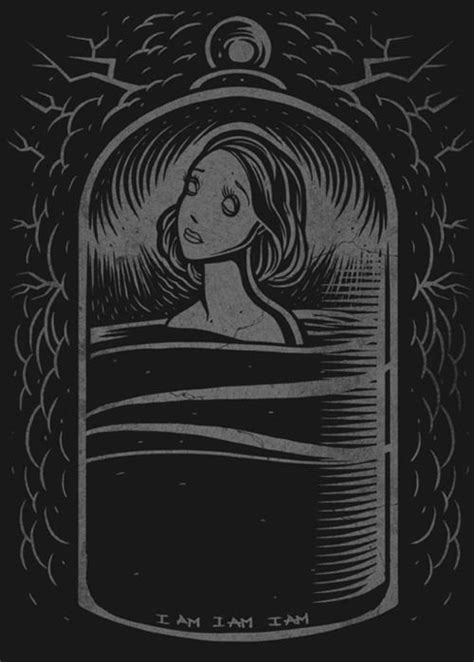 davequiggle: Illustration inspired by Sylvia Plath, The Bell Jar. Available from Miles To Go