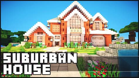 houses blueprints minecraft suburban house