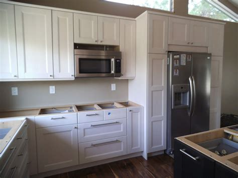 ikea white kitchen cabinets ikea ramsjo white cabinets but don t install microwave 4613