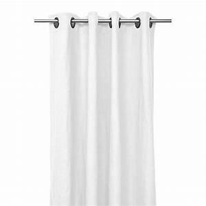 Rideau Lin Blanc : rideau lin lav propriano rideau oeillet lin stone wash harmony blanc ~ Teatrodelosmanantiales.com Idées de Décoration