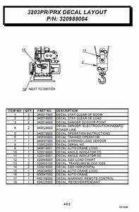 Auto Crane 320988004 Decal Kit For 3203 Series Cranes