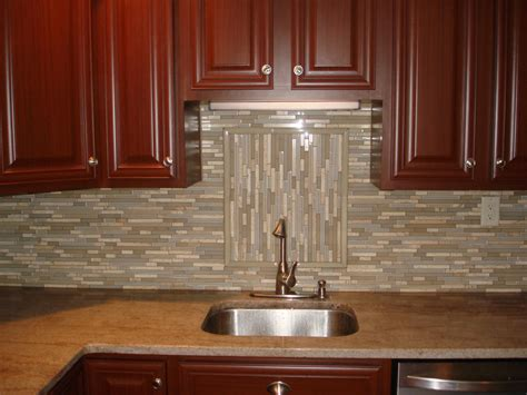 Backsplash Stone Glass Tile Kitchen Backsplash With