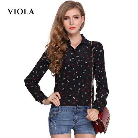s sleeve blouses viola white printed sleeve blouse tops 2016