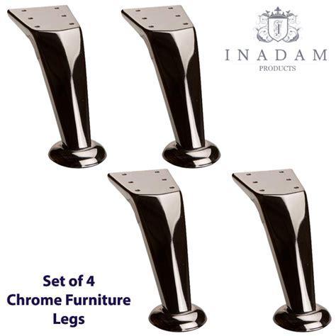 Inadam Furniture   4 x Chrome modern furniture legs/feet