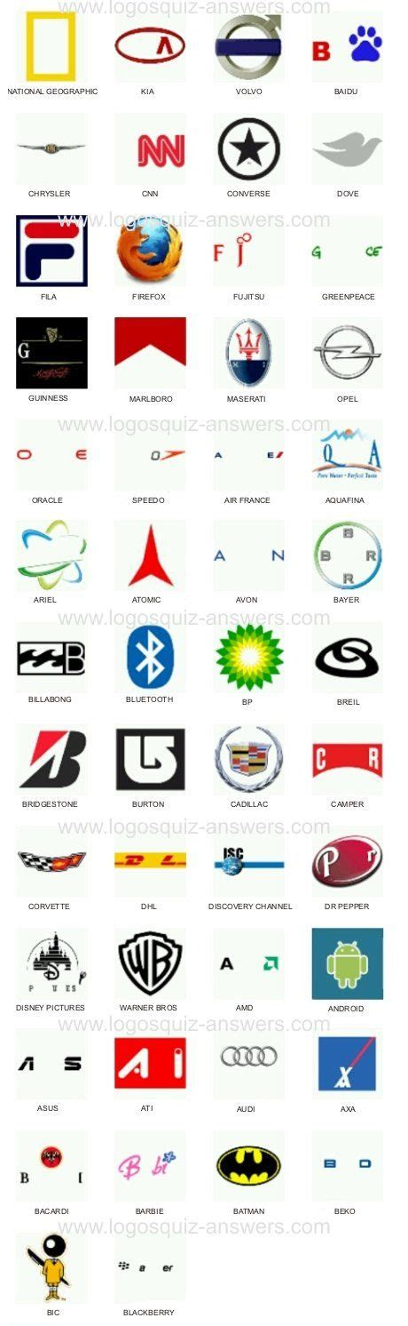 android answers 1000 images about logo quiz cheats on level 3