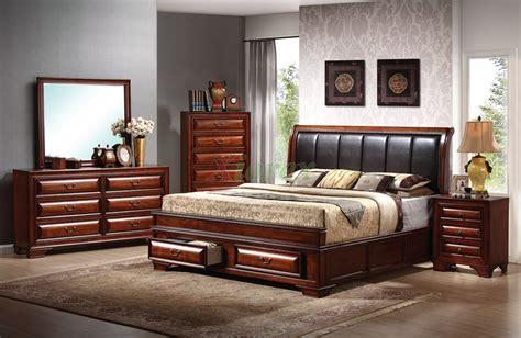 platform bedroom furniture set  leather headboard beds