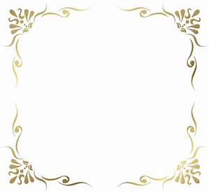 Transparent Decorative Frame Border PNG Picture | a ...