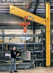 Drop Cantilever Mast Jib Cranes   Clear Overhead Obstacles