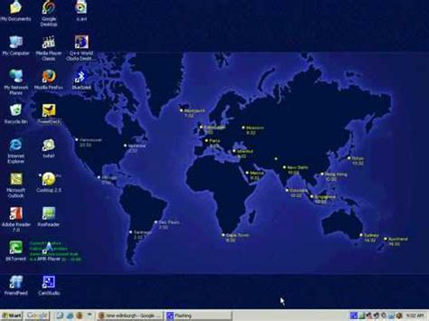 windows tips tricks set world clock desktop wallpaper youtube