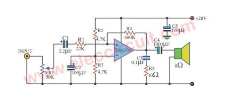 Tda Audio Amplifier Circuits Eleccircuit