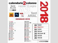 calendario 2018 mensile – Calendario 2018 mensile