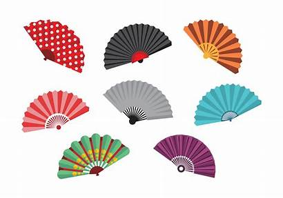 Fan Spanish Vector Hand Chinese Vectors Outline
