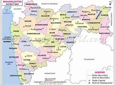 Maharashtra Map, Districts in Maharashtra
