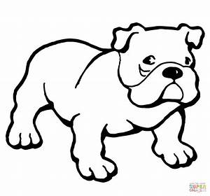 English Bulldogs With Puppy Coloring Page Free Printable ...