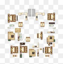 Top View Furniture PNG Images Vectors and PSD Files