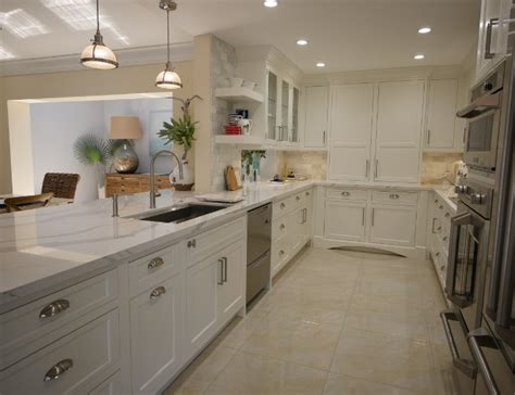 white kitchen  driftwood peninsula home bunch