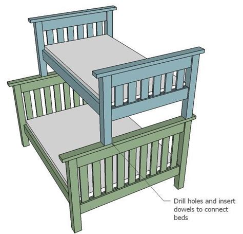 ana white twin  full simple bunk bed plans diy