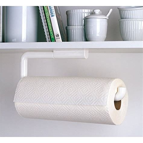 cabinet mount paper towel holder interdesign paper towel holder for kitchen wall mount