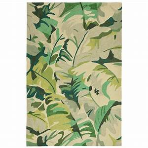 cabana palm green indoor outdoor rug 8 x 10