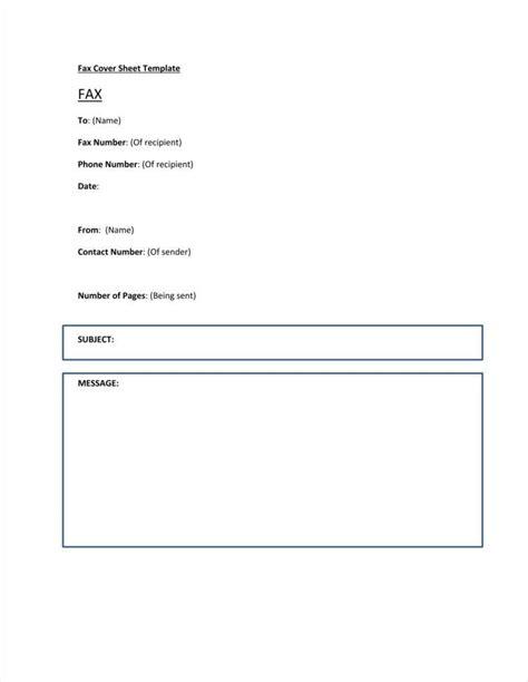 fax letterhead templates    format
