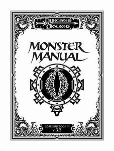 Monster Manual  Special Edition  Dungeons  U0026 Dragons D20 3
