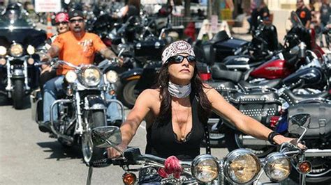 Getting Ready For A Biker Rally