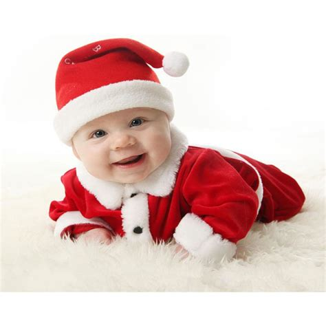 cute newborn christmas baby boy girls santa elf costume