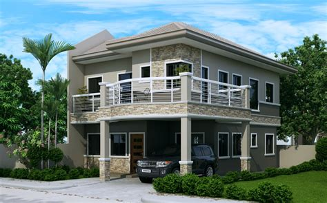 A Simple Modern Home With A Lot Of Personality Is For A And Their by Two Story House Plan With Firewall Home Design
