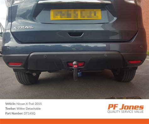 nissan xtrail 2014 onwards witter detachable tow bar